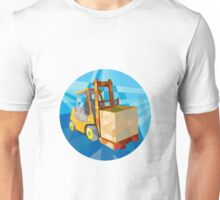 Forklift Truck Materials Box Circle Low Polygon Unisex T-Shirt