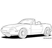 Mazda MX-5 MK1 Line Illustration by DigitalCel