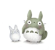 Totoro Buddies Fan Art by riaartworld