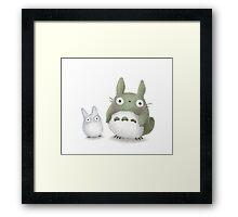 Totoro Buddies Fan Art Framed Print