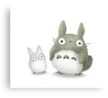Totoro Buddies Fan Art Canvas Print