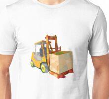 Forklift Truck Materials Handling Box Low Polygon Unisex T-Shirt