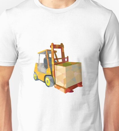 Forklift Truck Materials Handling Box Low Polygon Unisex T-Shirt