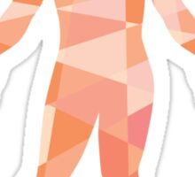 Gross Anatomy Male Isolated Low Polygon Sticker