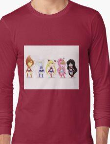 Adventure Time Sailor Scouts Fan Art Long Sleeve T-Shirt
