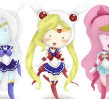 Adventure Time Sailor Scouts Fan Art Sticker