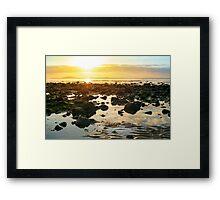 calm at rocky beal beach Framed Print