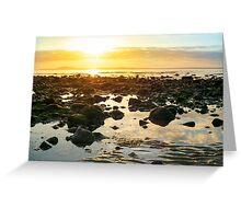 calm at rocky beal beach Greeting Card