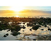 calm at rocky beal beach Photographic Print