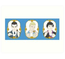 SHERLOCK - Tea Time for Sherlock - Trio Art Print