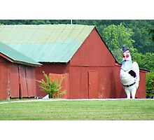 Now THATS a BIG Chicken... Photographic Print