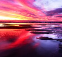 Mornington Peninsula - ocean sunset by Monica Cooke