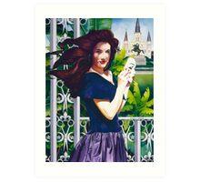 """Haute Coiffure"" Watercolor Art Print"