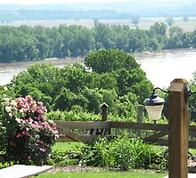 Missouri River View from Oak Glenn Vineyards by Sherry Graddy