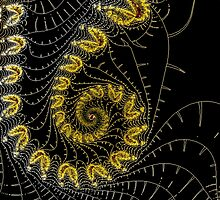 Snail fractal black and yellow by RosiLorz