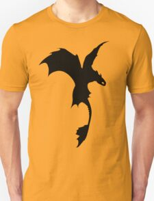 Toothless Silhouette - Plain T-Shirt