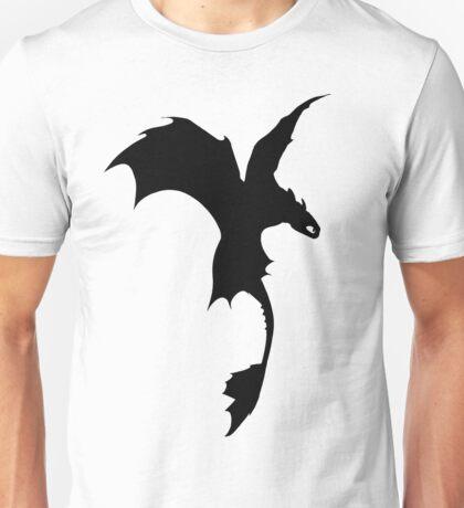 Toothless Silhouette - Plain Unisex T-Shirt