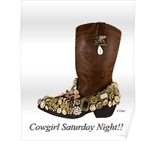 Cowgirl Saturday Night Poster