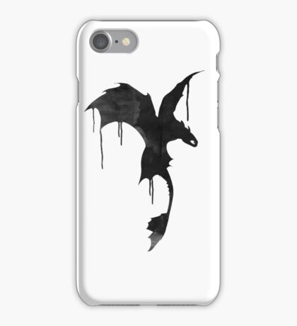 Toothless Silhouette - Ink Drips iPhone Case/Skin