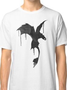 Toothless Silhouette - Ink Drips Classic T-Shirt