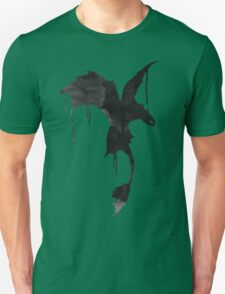 Toothless Silhouette - Ink Drips Unisex T-Shirt