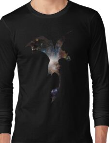 Toothless Silhouette - Galaxy Print Long Sleeve T-Shirt
