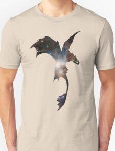Toothless Silhouette - Galaxy Print Unisex T-Shirt