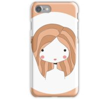 Horoscope Taurus sign, girl iPhone Case/Skin
