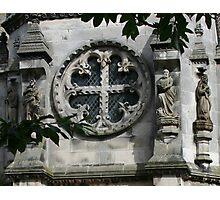 Fleur de Lis Circle Cross Window Photographic Print