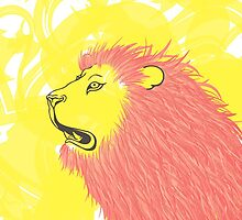 Lion Pink by NastyaSigne