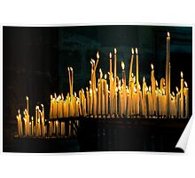 Reims Cathedral Candlelight Poster