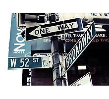 Broadway NYC Photographic Print