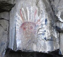 War Bonnet Pictograph by David Lee Thompson