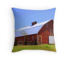 Big ol' red barn Throw Pillow