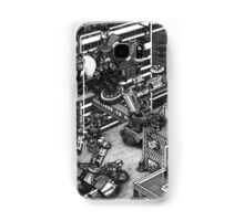 The cleaning robots and the futureistic Moxie horse mobile Samsung Galaxy Case/Skin