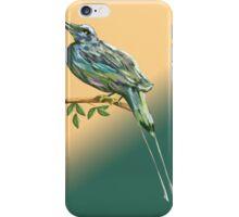 Long tailed blue bird iPhone Case/Skin