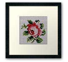 Shabby Chic Rose Framed Print