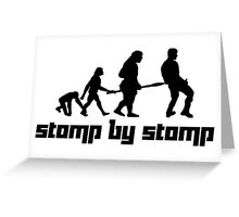Stomp by Stomp Greeting Card