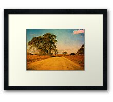 The Bend in the Road by the Willow Tree Framed Print
