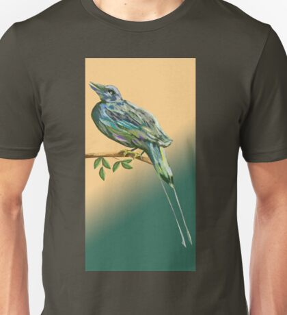 Long tailed blue bird Unisex T-Shirt