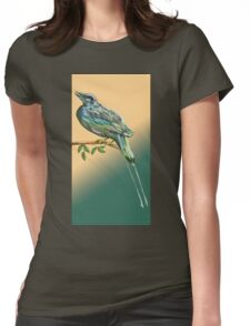 Long tailed blue bird Womens Fitted T-Shirt