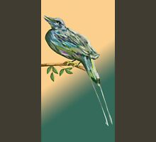 Long tailed blue bird Unisex T-Shirt