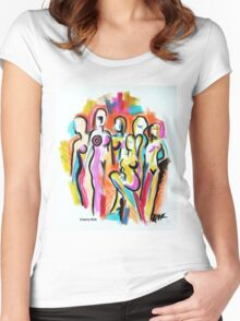 'Goddesses' Women's Fitted Scoop T-Shirt