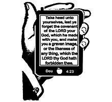 Deuteronomy 4:23 FORBIDDEN FRUIT Photographic Print