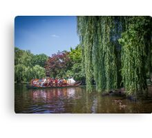 swan boat Canvas Print