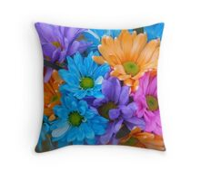 Tinted Daisies_2 Throw Pillow