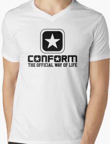 Conform - The Official Way of Life - Subversive Symbolism Mens V-Neck T-Shirt