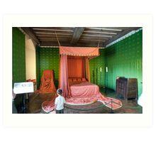 The Queen's Bedroom: Leeds Castle, Kent, UK Art Print