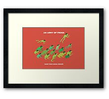 An Army of Frogs Framed Print