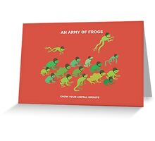 An Army of Frogs Greeting Card
